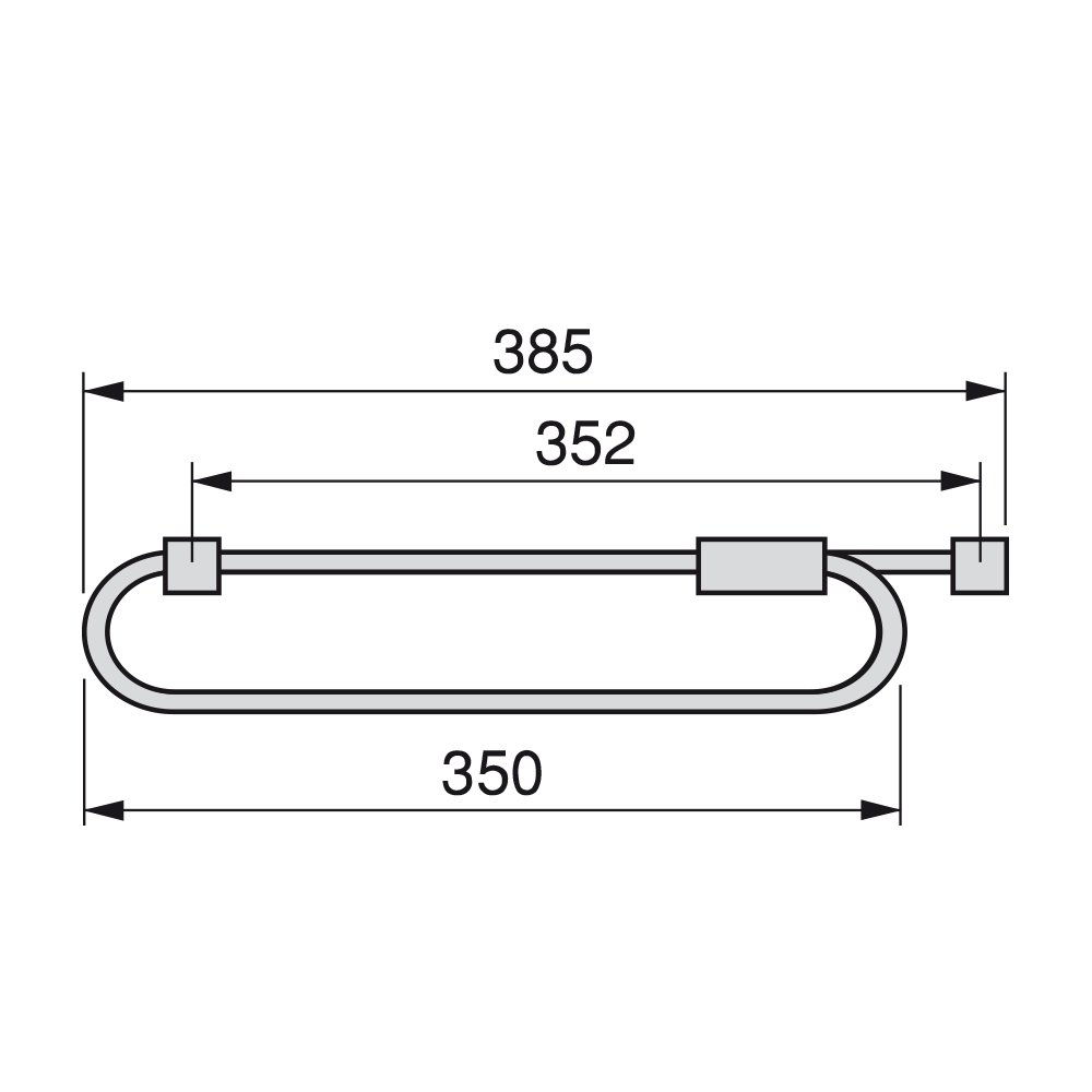 Lunghezza 300mm Emuca 7085425 Appendiabiti Estraibile per Armadio