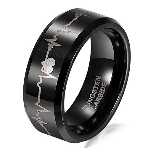 JewelryWe Wolframcarbid Herren Ring