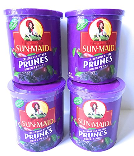 Sun Maid Pitted Prunes - 4 16 oz Canisters of Delicious Dried Prunes - GREAT VALUE by SunMaid (Image #3)