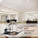 """Sunco Lighting 10 Pack 6"""" New Construction LED Can Air Tight IC Housing LED Recessed Lighting"""