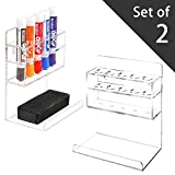 MyGift Clear Acrylic Wall Mounted 5 Slot Dry Erase Marker and Eraser ...