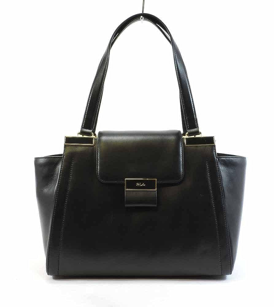587ca972f4 Polo Ralph Lauren Womens Leather Flap Shopper Handbag Black Medium  Handbags   Amazon.com