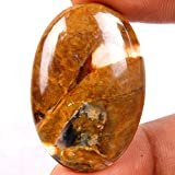 41 CT. NATURAL BUTTERFLY JASPER 38X26 MM OVAL CABOCHON TOP LOOSE GEMSTONES