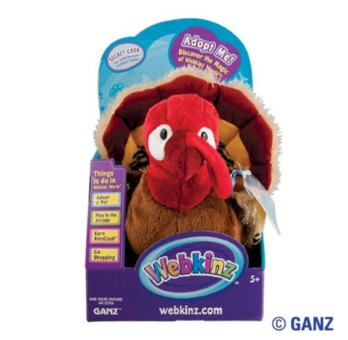Webkinz Gobbler Turkey in Box with Trading Cards