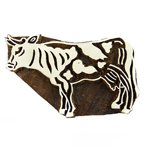 Indian Wooden Textile Stamps Wood Printing Block Animal Stamp Decorative Block by Knitwit