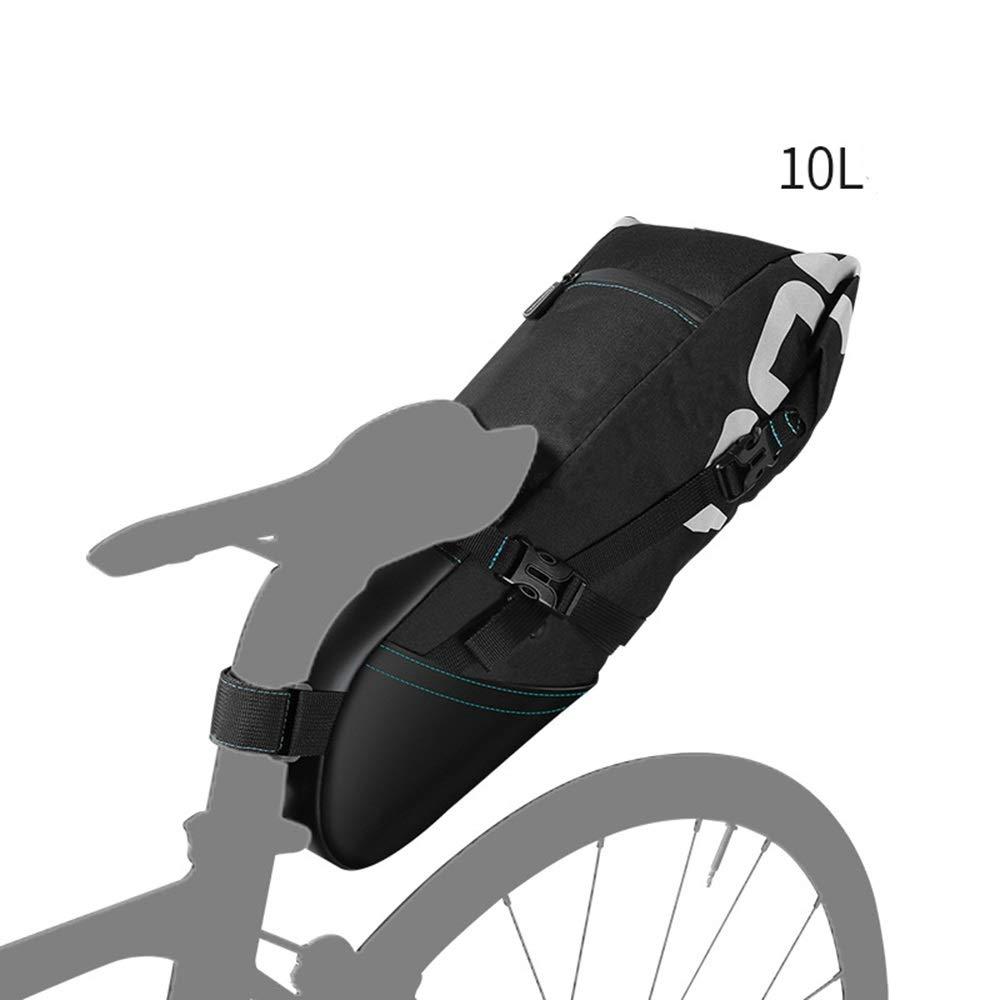 バイクのサドルバッグ/自転車のシートパックバッグ、防水10Lサイクリングウェッジ形状バッグ   B07S4GXCCX