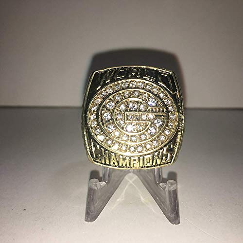 (1996 Brett Favre #4 Green Bay Packers High Quality Replica Super Bowl XXXI Ring Size 12-Gold Colored 3-D Logo USA SHIPPER)