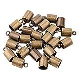 Pandahall 50pcs Antique Bronze Brass Glue-in Style Necklace Cord Crimp End Caps