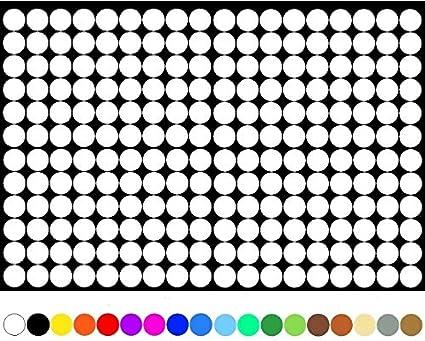 1800 nummerierte PVC Kreise 1-100 15mm 100 je Farbe Klebepunkte Aufkleber Folie