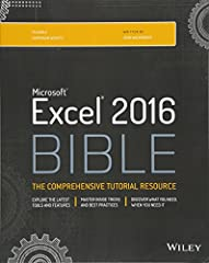 The complete guide to Excel 2016, from Mr. Spreadsheet himself Whether you are just starting out or an Excel novice, the Excel 2016 Bible is your comprehensive, go-to guide for all your Excel 2016 needs. Whether you use Excel at work or at ho...
