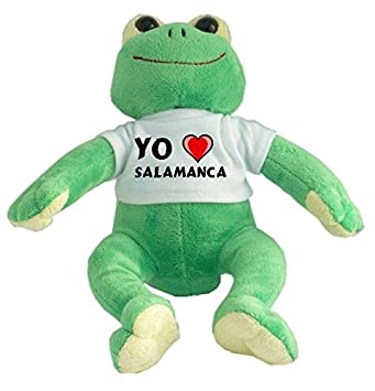 Rana de peluche con Amo Salamanca en la camiseta (ciudad ...