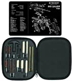 Ultimate Arms Gear Gunsmith & Armorer's Cleaning Work Bench Gun Mat SIG Sauer SIG P220 + Professional Tactical Cleaning Tube Chamber Barrel Care Supplies Kit Deluxe 17 pc Handgun Pistol Cleaning Kit in Compact Molded Field Carry Case for .22 / .357 / .38