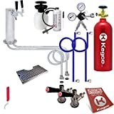 Kegco KC EBUTCK2-5T Ultimate Tower 2 Kegerator Conversion Kit with 5 lb Tank, Stainless Steel