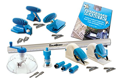 Logan Graphics Foamwerks Deluxe Cutting Kit For Foam Board For Creative Use In Art  Scrapbooking  Arcitecture  Modeling  Hobby And Craft Applications