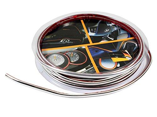 3 Meter Car Motor Interior Exterior DIY Decoration Moulding Trim Strip Line Sticker (Silver)