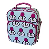 Insulated Durable Lunch Bag - Reusable Meal Tote With Handle and Pockets - Penguin