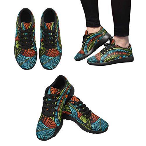 Women's Lightweight Running Multi Casual Shoes InterestPrint 1 Jogging Sneakers aqRxC