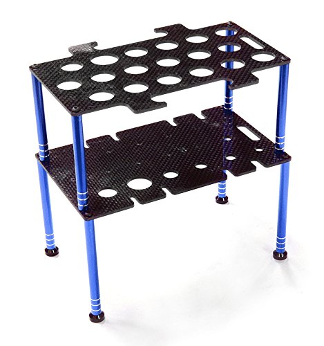 Integy RC Model Hop-ups C26599BLUE Team Edition Deluxe Machined Universal Shock & Tool Stand Kit