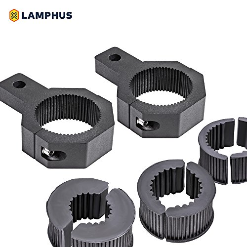 LAMPHUS Cruizer LED Off-Road Light Vertical Bar Clamp Mounting Kit 1