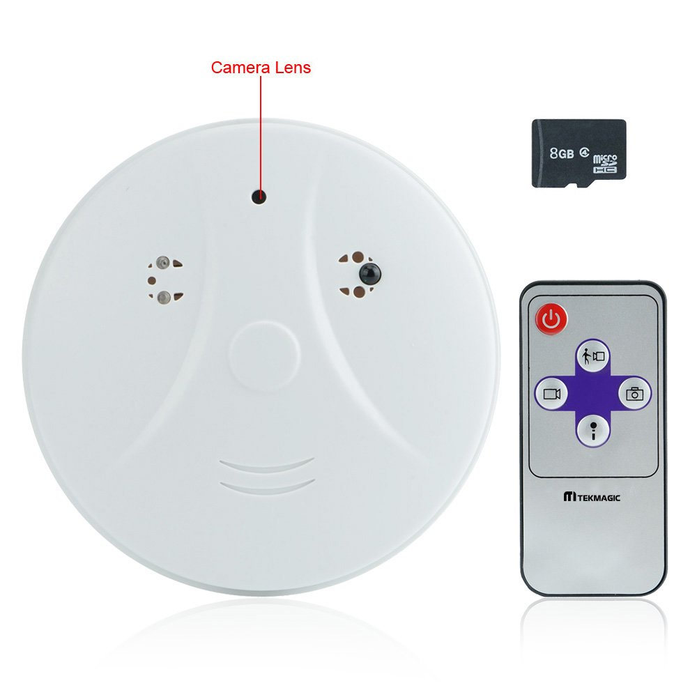 tekmagic 8 GB 1280 x 720p HD Detector de humo cámara oculta Mini SD Tarjeta seguridad DVR: Amazon.es: Bricolaje y herramientas