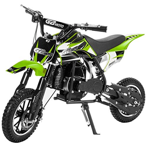 Pit Bike - XtremepowerUS 49CC 2-Stroke Gas Power Mini Pocket Dirt Bike Dirt Off Road Motorcycle Ride-on Motor Cycle (Green)