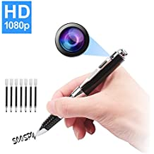 SOOSPY Spy Pen Hidden Camera, 1080P HD Mini Portable Camera Video & Photo Recorder Multifunction DVR Cam with Free 7 Black Refill