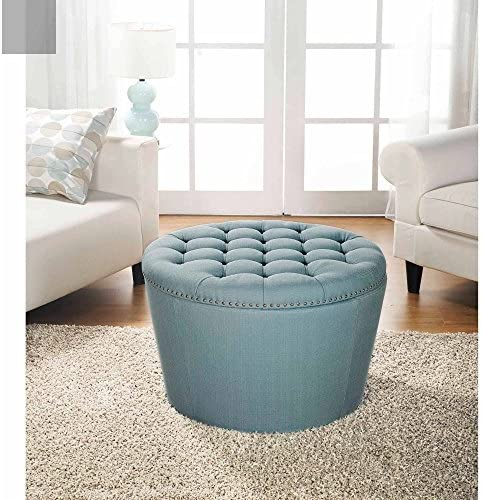 Better Homes and Gardens Round Tufted Storage Ottoman