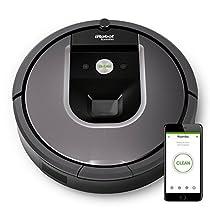 iRobot Roomba 960 Robot Aspirador Programable desde la app, WiFi, Potente, Sensores Dirt Detect, Limpieza Antienredos, Óptimo para el pelo de mascotas