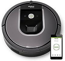 IRobot Roomba 960 - Robot Aspirador, Potente, Sistema de Limpieza Antienredos, Sensores de Suciedad Dirt Detect, Óptimo para el Pelo de Mascotas, Wifi, Gris