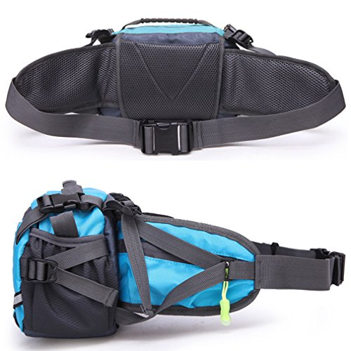 Outdoor Sport Large Capacity Waist Bag Fanny Pack For Men Women Travelling,Cycling, Hiking,Camping (Black)