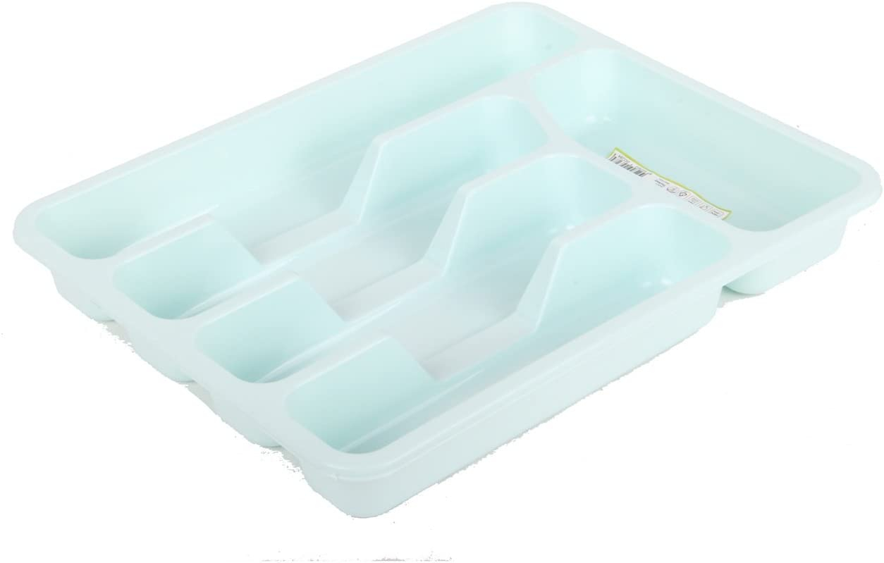Cutlery Tray Kitchen Tidy Plastic Storage BPA Free Machine Washable BAGER Green
