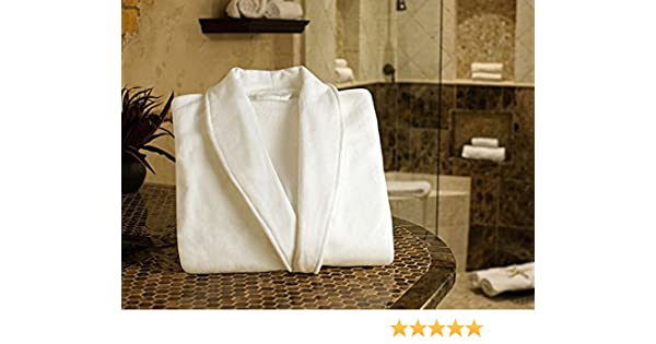 Amazon.com  Luxuriously Soft   Cozy Five Star Spa Robe for Men and Women  (one size)  Home   Kitchen 675e84e52