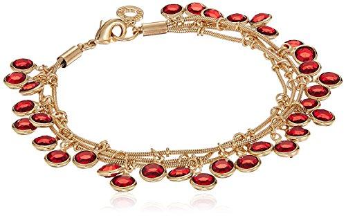 Anne Klein Gold-Tone Siam Three Row Shaky Bracelet