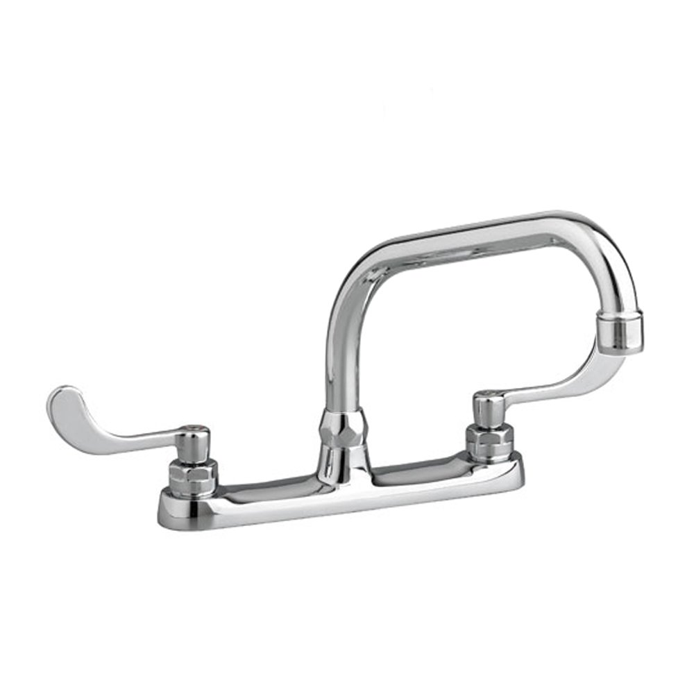 Polished Chrome 6408170.002 American Standard 6408.170.002 Monterrey Top Mount Kitchen Faucet with 8-Inch Swivel Spout less Handspray