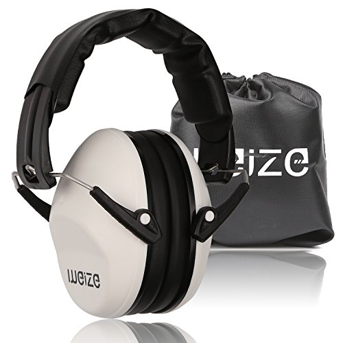 Weize Safety Earmuffs Tactical Sport Hearing Protector Folding-Padded Ear Protection for Shooting Range Worksite Gun Range Hunting Drilling(Certified S3.19 & EN352)
