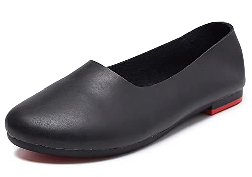 4c7b41388b021 Kunsto Women's Genuine Leather Comfort Glove Shoes Ballet Flat