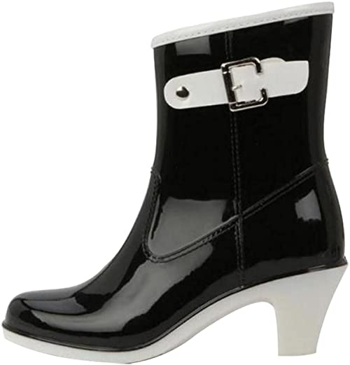LvRao Ladies High Heel Waterproof Rain