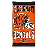 NFL Cincinnati Bengals Fiber Beach Towel, 30 x 60-Inch