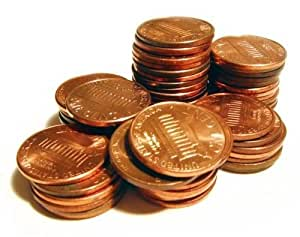 10 Pounds (10 lbs; 4.5 kg) Copper Pennies 1909-1982 USA American Coins Currency 4.5 Kilograms