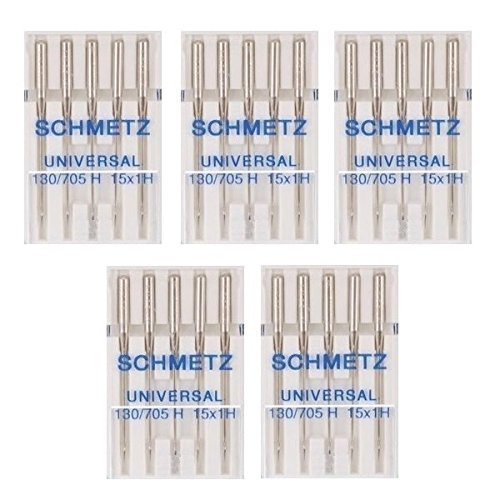 25 Schmetz Universal Sewing Machine Needles 130/705H 15x1H Size 75/11