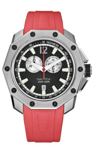 Nautica Men's N24517G NVL100 Red Resin Watch