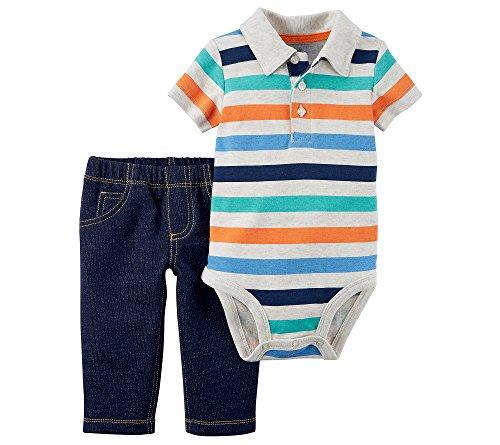 Carter's Baby Boys' 2 Piece Bodysuit and Pants Set 6 Months (Body 2 Piece Set)