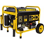 WEN Products WEN 56475 Generator with Electric Start and Wheel Kit, CARB Compliant, 4750W, Gasoline Powered, 4...