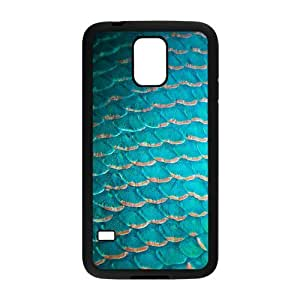 Custom Mermaid Scales Durable Protection Hard Cover Case For Samsung Galaxy S5 TPU