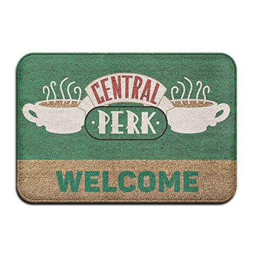 SPXUBZ Central Perk Coffee Retro Welcome Non Slip Entrance Rug Outdoor/Indoor Durable and Waterproof Machine Washable Door mat Size:23.6x15.7 inch