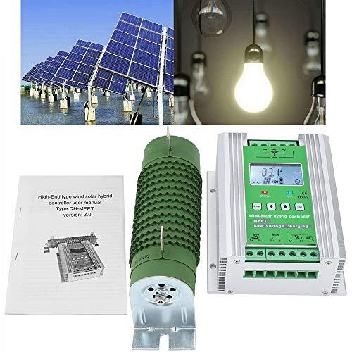 12V/24V MPPT Aumentar Controlador Híbrido Solar Eólico Módulo Fotovoltaico de 400W para Aerogenerador de 800W con Carga de...