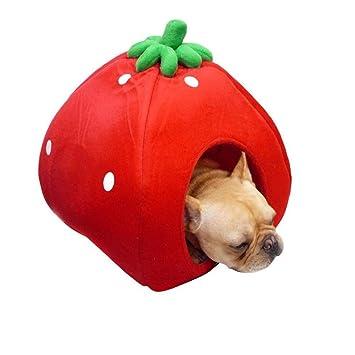 635 Cama para Perros Linda camada de Perro Fresa Puede es Lavable y doblado para la