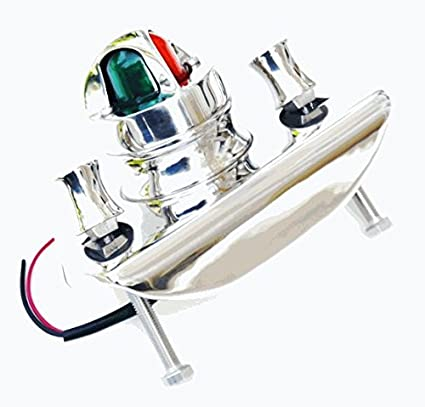 Marine Grade STAINLESS OLD STYLE BOSTON WHALER NAVIGATION BOW LIGHT/CHOCK