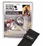 KA-BAR HOBO Stainless Fork/Knife/Spoon 3-in-1 Utensil Kit, Nylon Sheath, Outdoor Stuffs