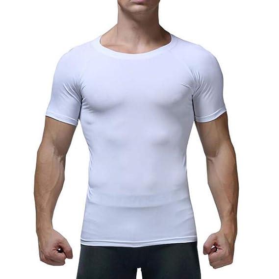 Camiseta Hombre Verano Manga Corta Gym Chándal de Hombres Quick ...